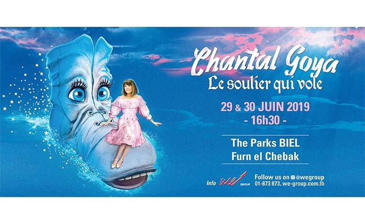 Chantal Goya dans son dernier spectacle Le Soulier Qui Vole les 29 & 30 Juin au Biel - Furn El Chebbak