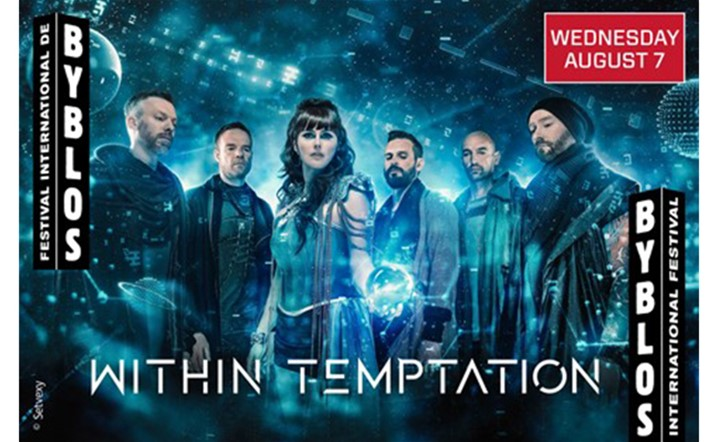 Tickets for Within Temptation at Byblos International Festival are available at any virgin branch or online!
