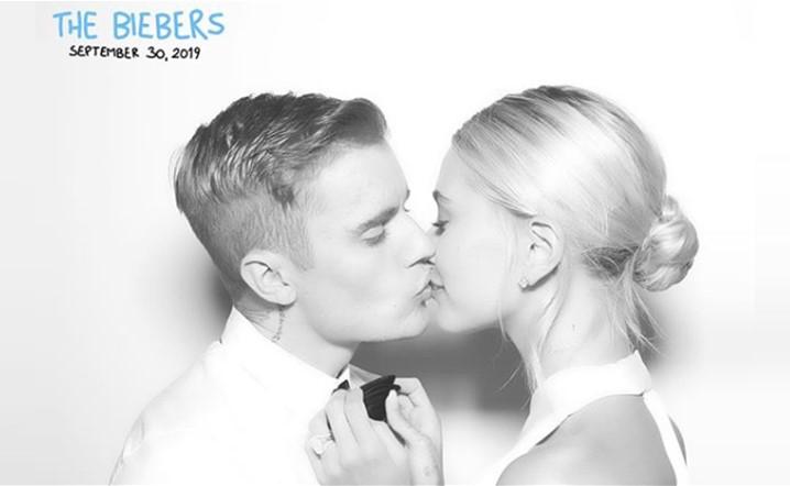 جاستن بيبر بصور عفوية من حفل زفافه