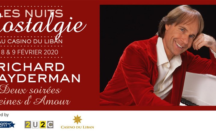 Two evenings full of love with Richard Clayderman at Casino du Liban on 8-9 February 2020... Book your tickets!