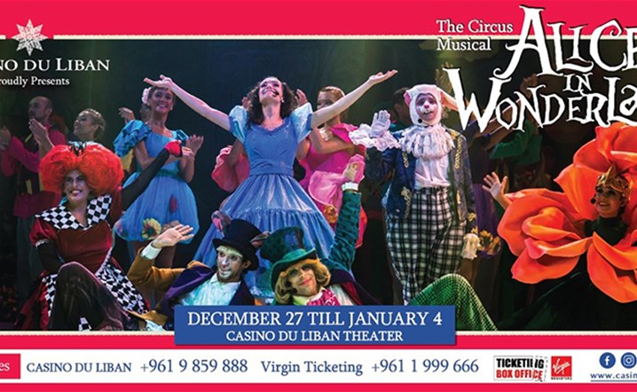 Casino du Liban has the pleasure to present ALICE IN WONDERLAND from December 27, 2019 till January 4, 2020.