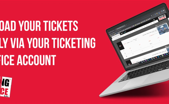 No Need to wait for receiving your e-tickets by email, you can download them directly via our website!