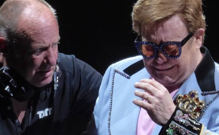 Elton John leaves stage in tears after walking pneumonia diagnosis