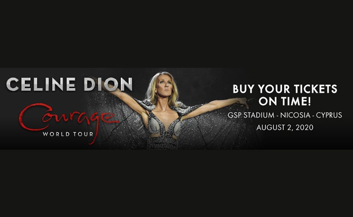Buy your tickets now to watch Celine Dion Concert in Cyprus, Nicosia on 2nd of August