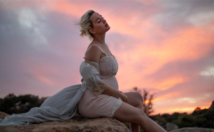 Katy Perry Shows Her Baby Bump in Music Video